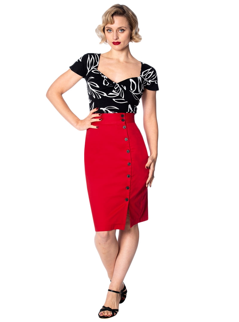 Jupe Crayon Pin Up Rockabilly Vintage Banned