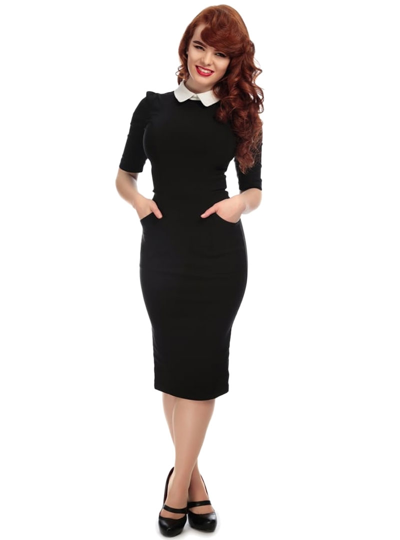 40e663f2c83 Robe Crayon Pin-Up Rockabilly Années 50 Collectif