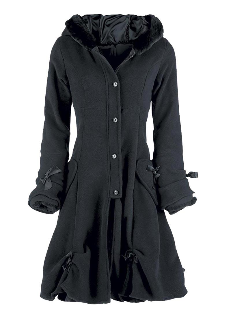 Clothing Industries Evil Black Manteau Gothique Alice Lolita Poizen qtwzX84