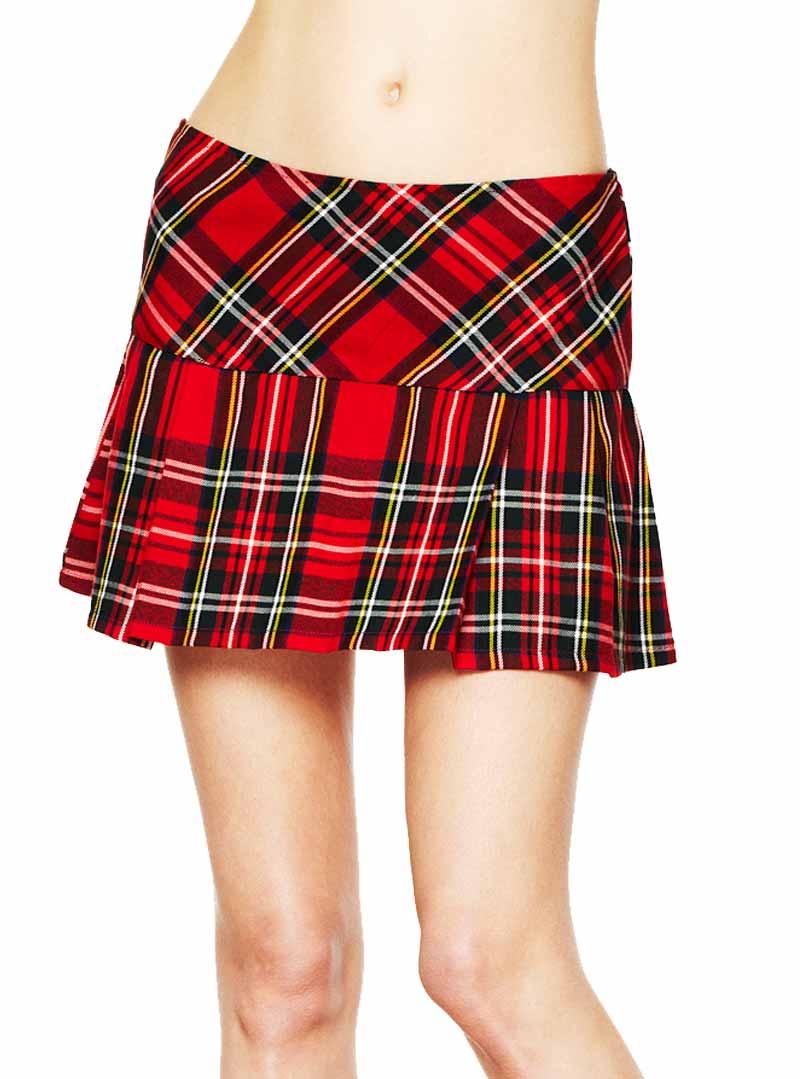 69467822f0c743 Jupe écossaise noire/rouge punk rock Hell Bunny