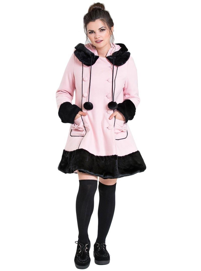 Gothique Rockabilly Rose Lolita Hell Manteau Bunny 80mvwyNnO