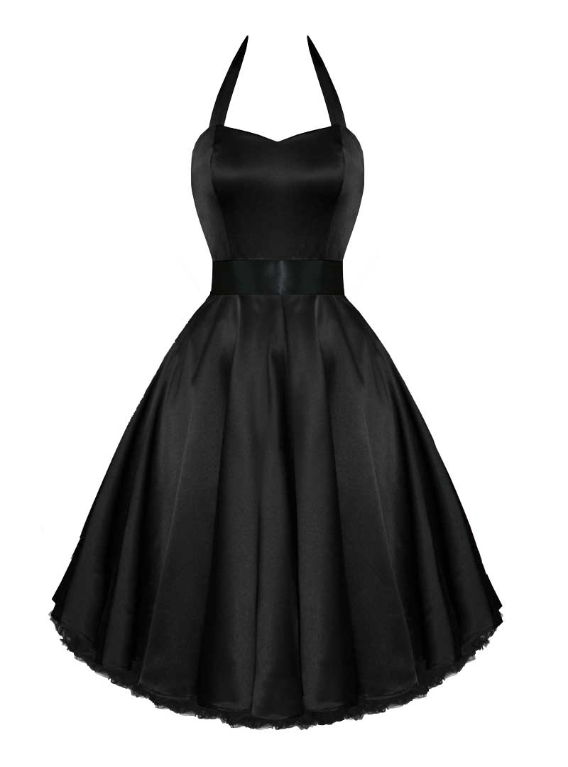 Up Hr Satin London Black Pin 0knwop Rockabilly Soirée De Robe uOkiXPZ