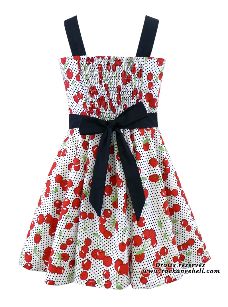 47c05f014ccc7 Robe Enfant Fille Retro Rockabilly Rock Ange Hell
