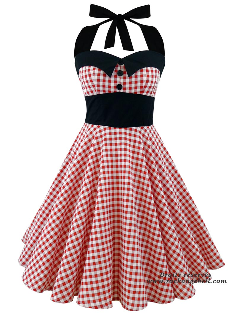 45f323f01 Robe Rockabilly Pin-Up Années 50 Rock Ange'Hell