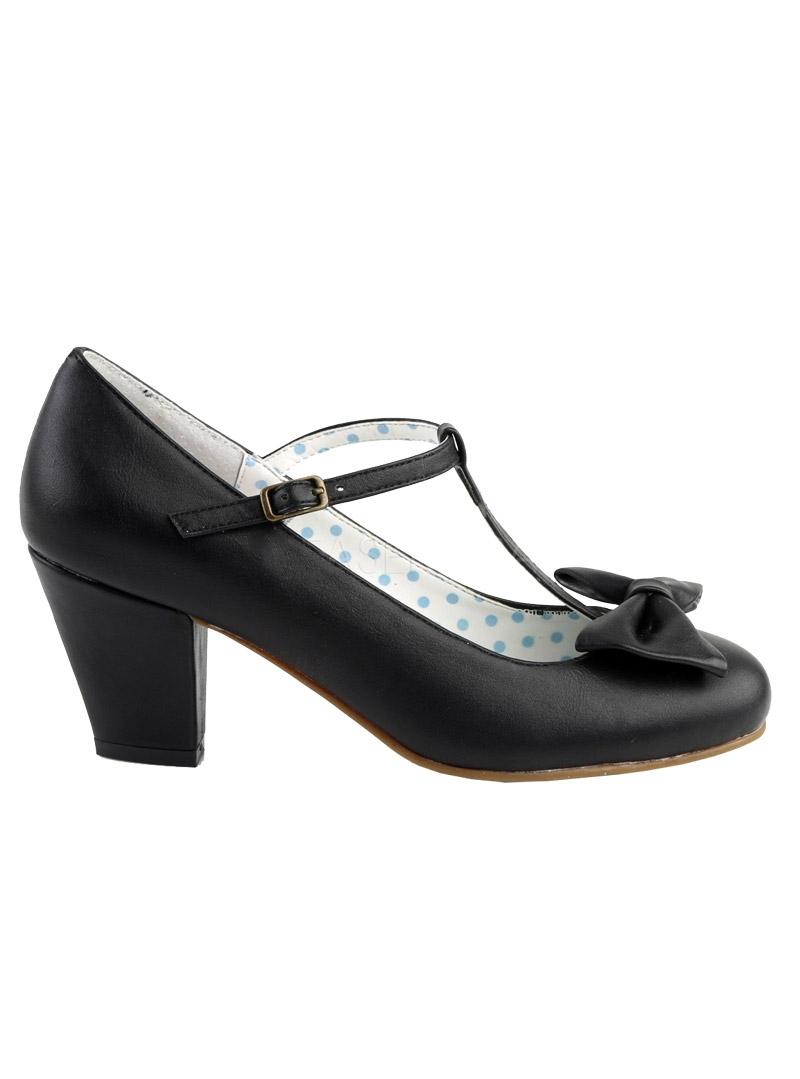 Pin Up Couture WIGGLE 50 escarpins Pin up rockabilly noirs à talons
