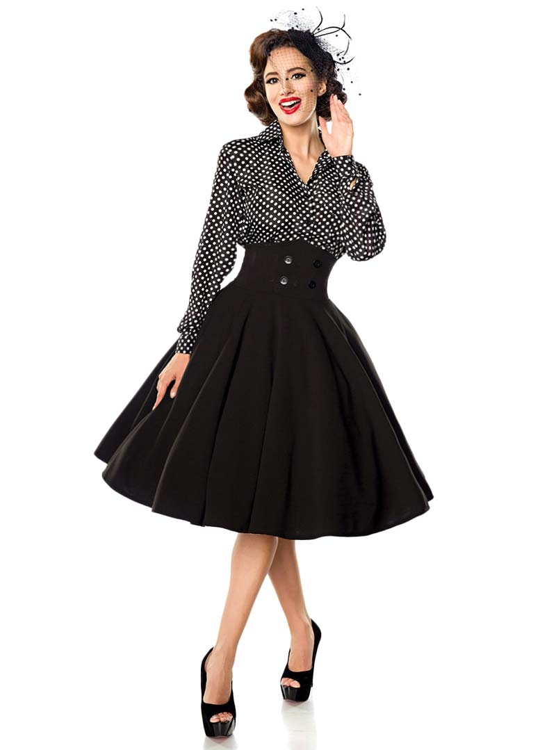Jupe pin up ann es 50 rockabilly vintage belsira bella - Pin up annee 40 ...