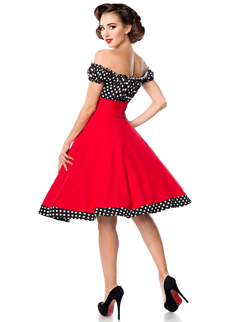 Robe ann es 50 pin up rockabilly retro belsira bella red - Pin up annee 40 ...