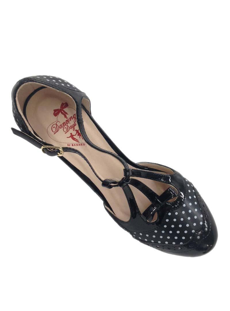 Chaussures escarpins ann es 50 pin up rockabilly banned one note samba black - Chaussures annees 50 femme ...