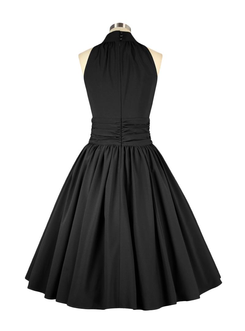 robe soir e pin up ann es 50 rockabilly chicstar marilyn black. Black Bedroom Furniture Sets. Home Design Ideas