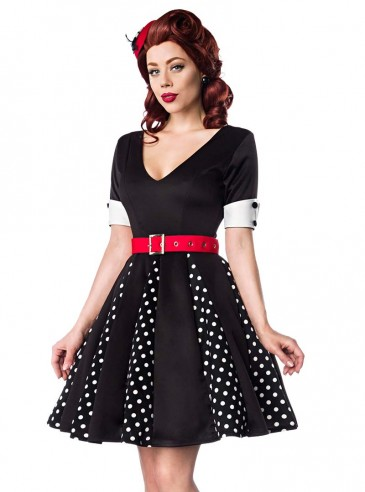 "Robe Retro Vintage Pin-Up Belsira ""Black White Dots"""