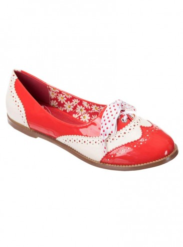"""Chaussures Derby Pin-Up Vintage Rockabilly Banned """"Milana"""""""