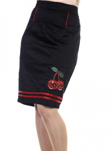 """Jupe rockabilly pin-up rétro Banned """"Cherry"""""""