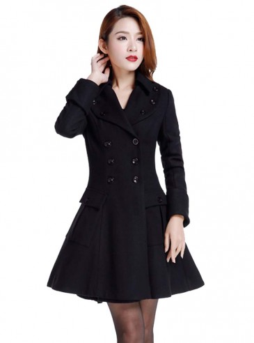 "Manteau Pin-Up Rockabilly Gothique Lolita Chicstar ""Anna"""