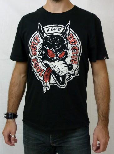 "Tee-shirt punk rock homme Hotrod Hellcat ""Lone Wolf"""