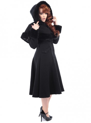 "Manteau Rockabilly Pin-Up Vintage Collectif ""Anoushka Princess"""