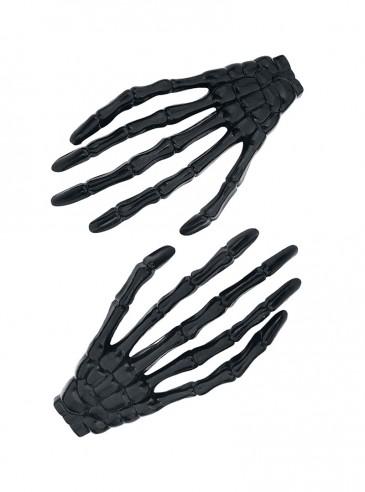 """Barrettes Gothiques Poizen Industries (Evil Clothing) """"Bone Hands"""""""