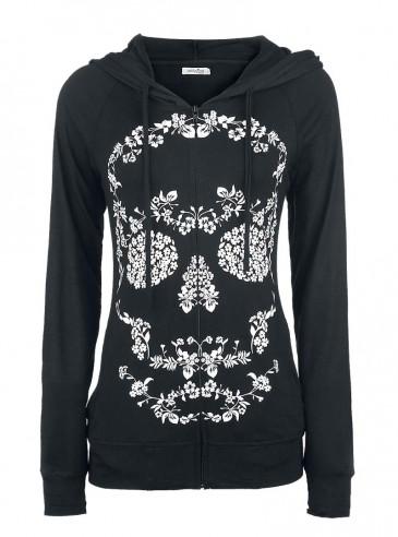 "Sweat Rock Gothique Innocent (Evil Clothing) ""Flower Skull"""