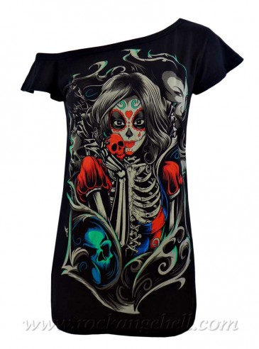 "Débardeur Gothique Rock Cupcake Cult (Evil Clothing) ""Muerte Snow"""