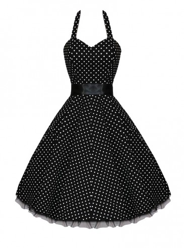 "Robe Vintage HR London ""Black & White Dot"""