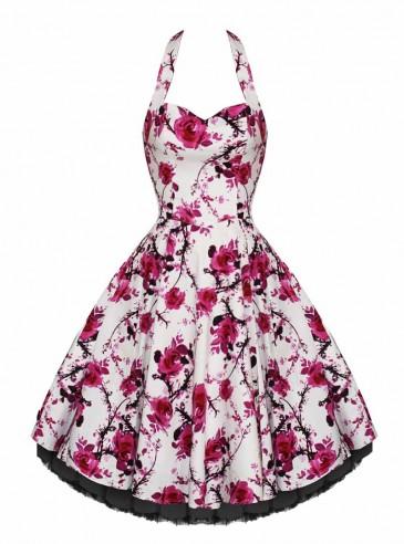 "Robe rockabilly vintage HR London ""Pink Floral"""