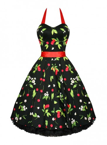"Robe Rockabilly Vintage Retro HR London ""Cherry"""