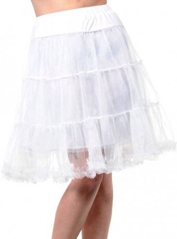 """Jupon 58 cm Rockabilly Années 50 Banned """"Petticoat White"""""""