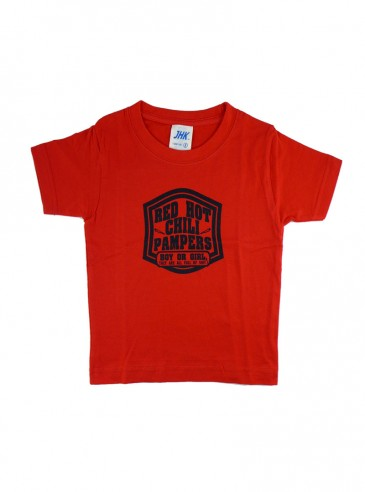 """Tee-shirt rouge rock ENFANT Rock Daddy """"Red Hot Chili Pampers"""""""
