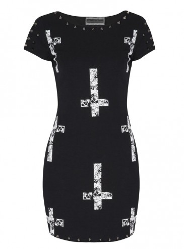 "Robe Gothique Jawbreaker ""Skull Crosses"""