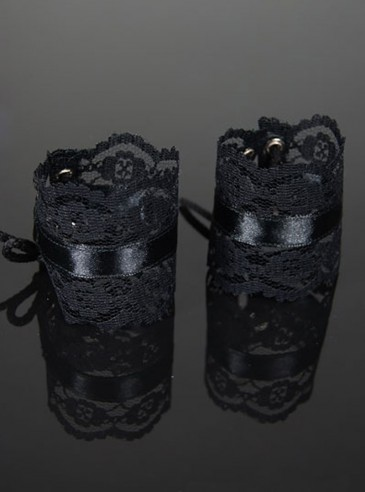 "Bracelets Manchons Gothique Lolita Dark Wear ""Black Net"""