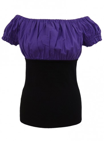 Tee-shirt Top Gothique Gypsy Violet