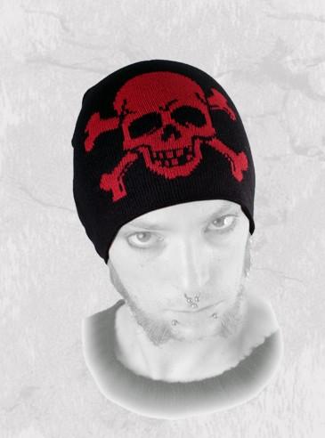 """Bonnet punk rock Queen of Darkness """"Skull & Bones"""""""