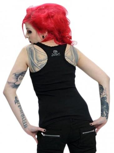 "Débardeur punk gothique Queen Of Darkness ""Skull"""