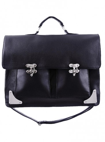 "Sac Cartable Gothique Victorien Restyle ""Dark Messenger"""