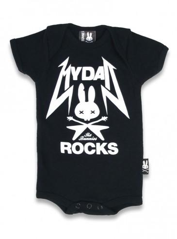 "Body Bébé Rock Six Bunnies ""My Dad Rocks"""