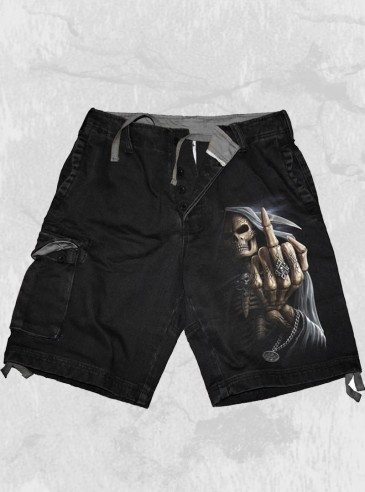 "Short Homme Rock Gothique Spiral ""Bone Finger"""