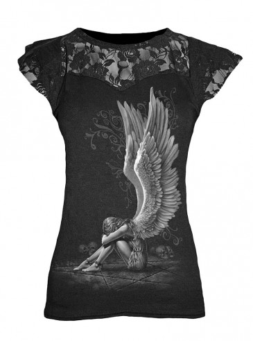 """T-shirt gothique Spiral """"Enslaved Angel"""""""