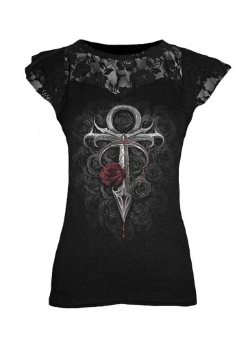 "T-shirt gothique Spiral ""Vampire's Kiss"""