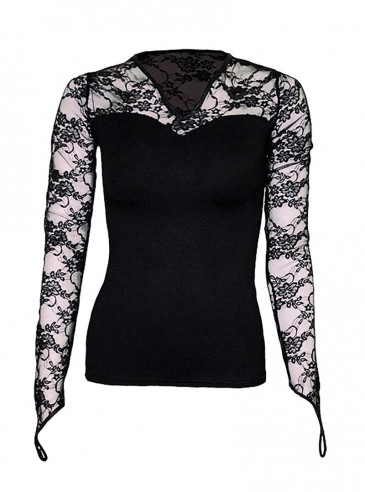 """Tee-shirt gothique manches longues Spiral """"Lace Glove"""""""