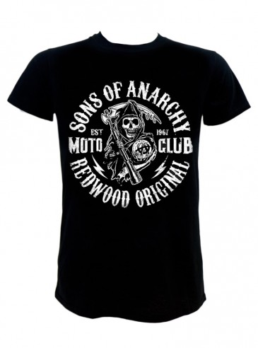 """Tee-shirt Homme Rock Punk Sons of Anarchy """"Moto Club"""""""