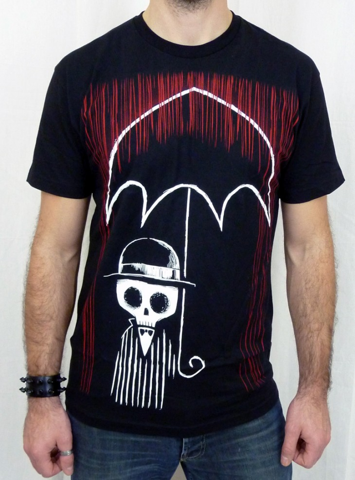 "Tee-shirt rock gothique homme Akumu Ink ""The Blood Storm"""