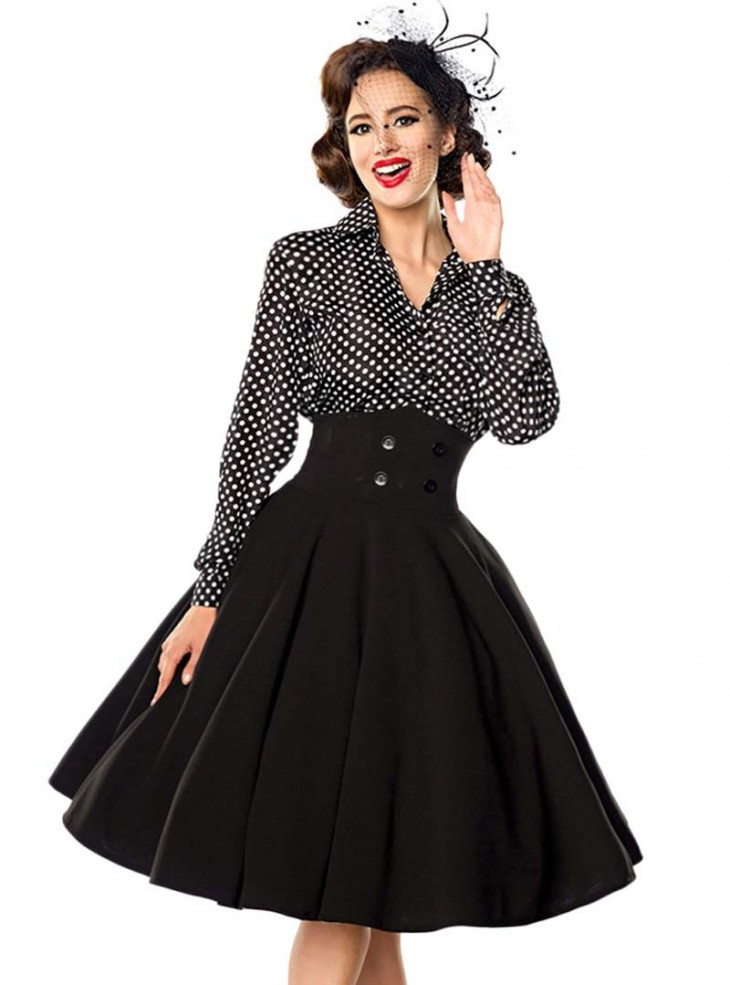"Jupe Pin-Up Années 50 Rockabilly Vintage Belsira ""Bella"""
