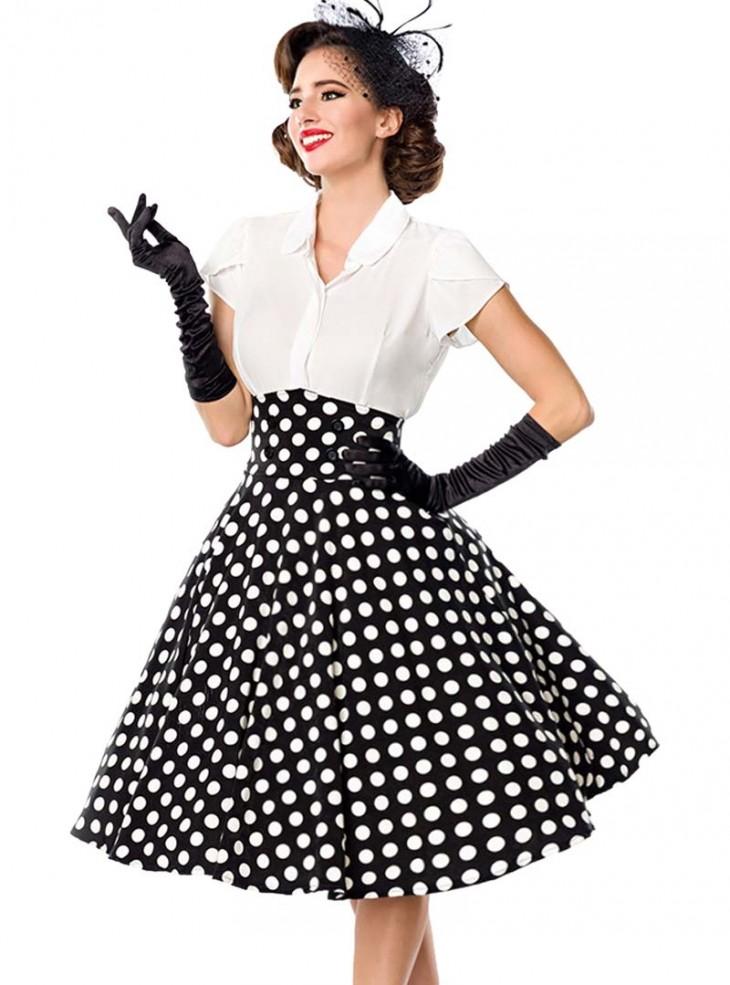"Jupe Pin-Up Rockabilly Années 50 Vintage Belsira ""Bella Dots"""