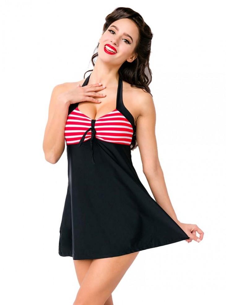 maillot de bain rockabilly pin up retro belsira bella red. Black Bedroom Furniture Sets. Home Design Ideas