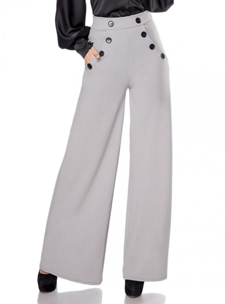 "Pantalon Vintage Rockabilly Belsira ""Lauren Grey"""