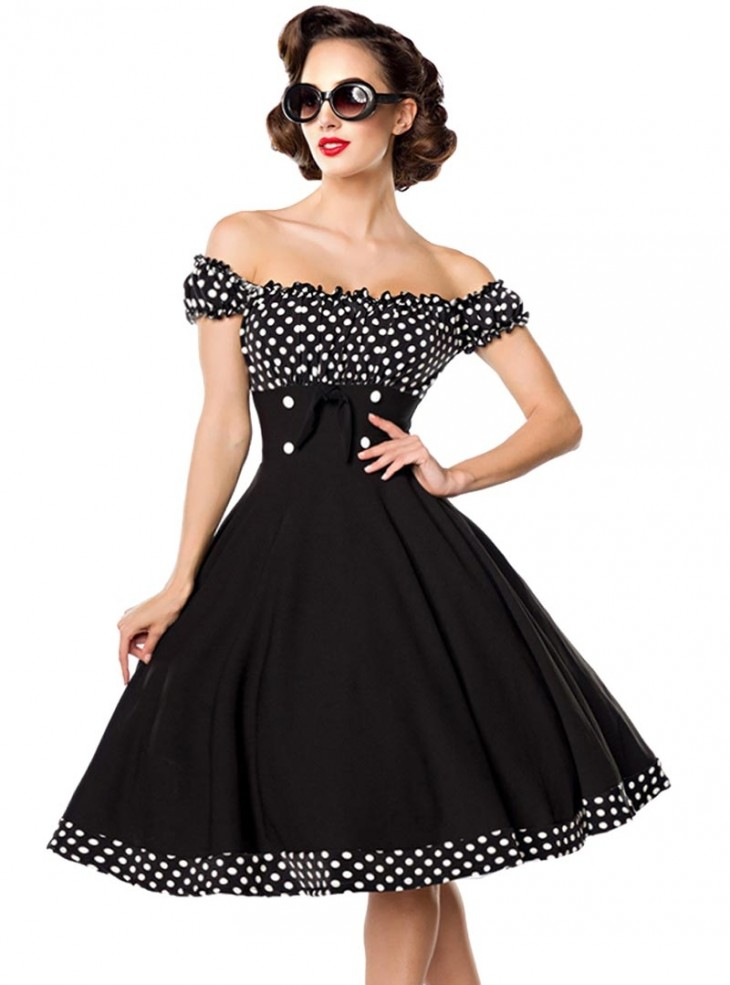 robe pin up ann es 50 rockabilly vintage belsira bella. Black Bedroom Furniture Sets. Home Design Ideas