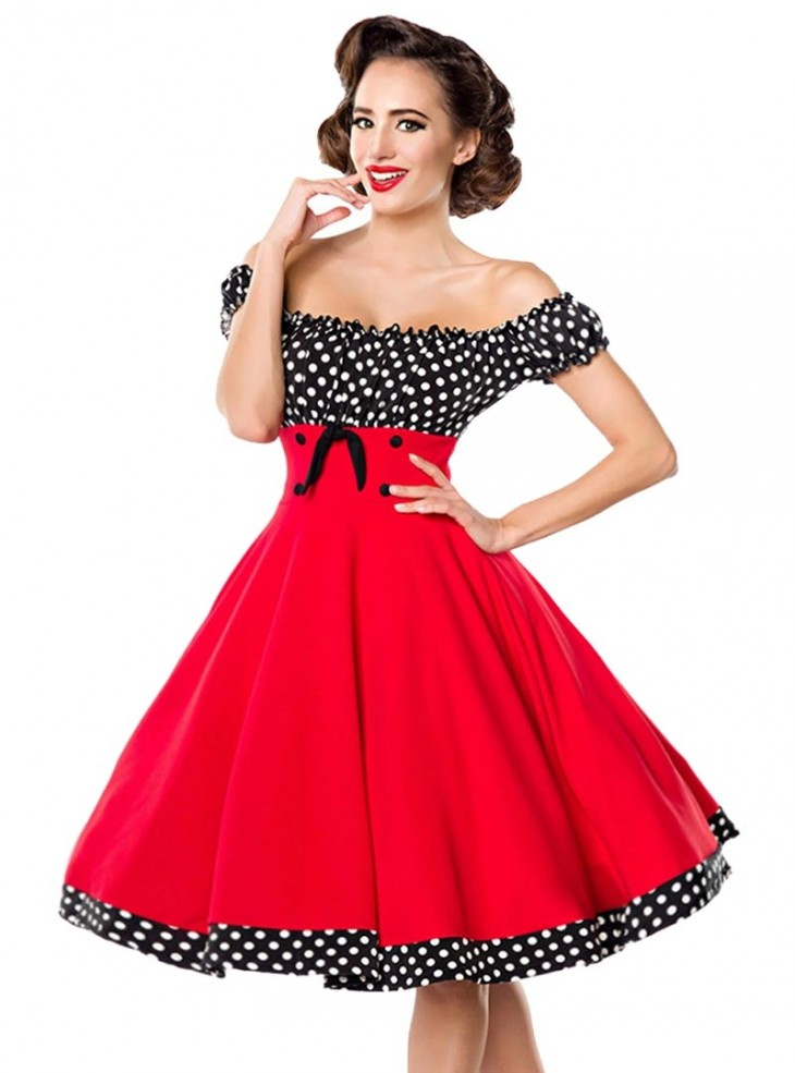 robe ann es 50 pin up rockabilly retro belsira bella red. Black Bedroom Furniture Sets. Home Design Ideas