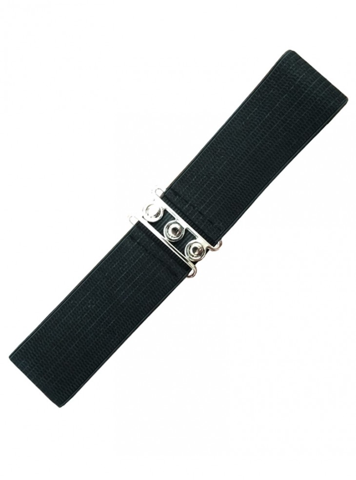 "Ceinture Noire Vintage Rockabilly Pin-Up Retro Banned ""Just Black"""