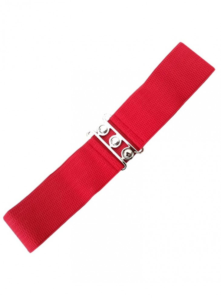 "Ceinture Rouge Vintage Rockabilly Pin-Up Retro Banned ""Just Red"""