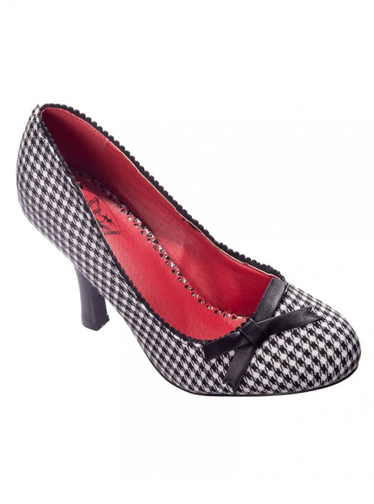 "Chaussures Escarpins Retro Pin-Up Vintage Banned ""String of Pearl Vichy"""