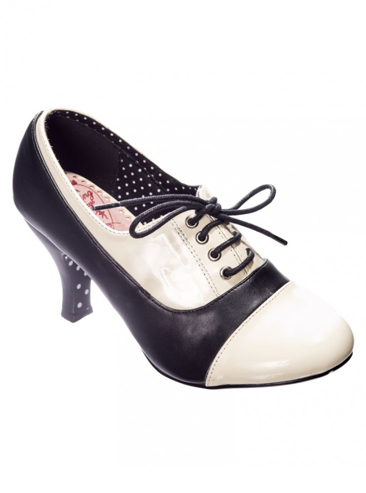 "Chaussures Escarpins Retro Rockabilly Banned ""Let the good times roll"""